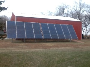 solar-powered Nebraska farm