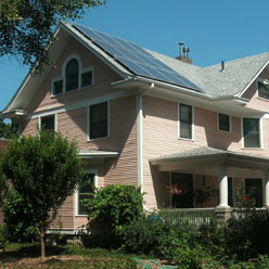 Lincoln solar-powered house