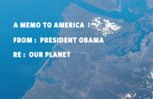 Still from the White House Video announcing the Monday release of the final version of the Clean Power Plan.