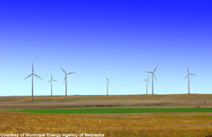wind turbines on a Nebraska farm