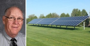 Iowa school district superintendent Darrell Smith took a cue from local hog and turkey farmers and cut operating costs by installing solar. Photo credits: WACO CSD