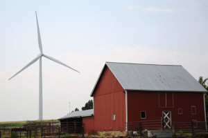 A wind turbine outside of Odell generates wind-powered energy through the usage of wind farms. Photo credit: Jenna Vonhofe/Lincoln Journal Star