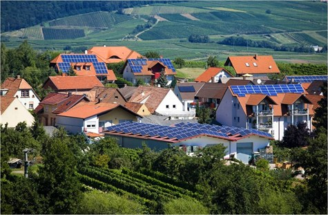 German village with solar. Photo: Solar Electric Power