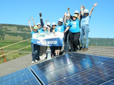 All-women engineering team from UNR Oroville, California, Solar Spring Break 2015