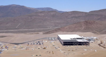 About 14 percent of the Gigafactory in Nevada has been built so far. At 5.8 million square feet, it will be a building with one of the biggest footprints in the world. Photo: Tesla