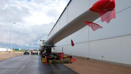 Vestas' Brighton plant has developed and will produce the longest wind turbine blade ever made in the United States, about 189 feet long, for the V117-3.3 megawatt wind turbine.