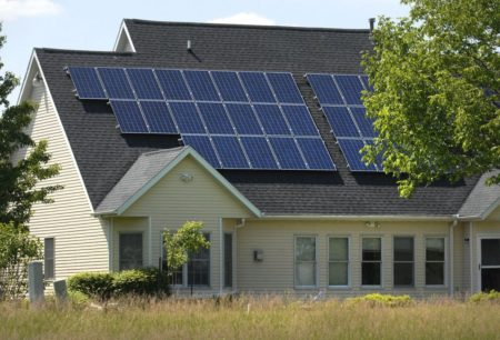 A large solar system helps power a house on Ironwood Golf Course in north Normal.